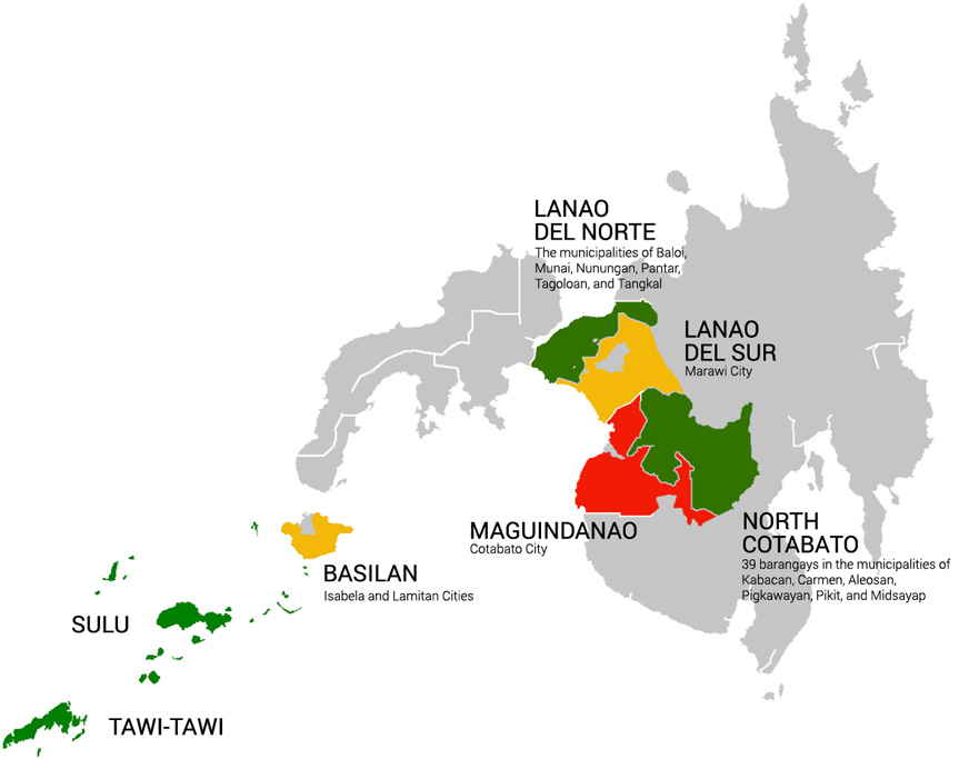 Map, Bangsamoro Development Plan (BDP)