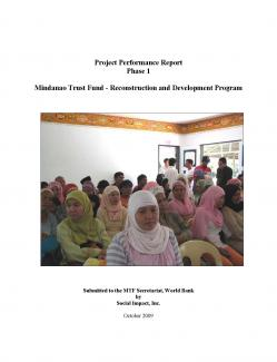 Project Performance Report: Phase 1, October 2009