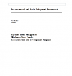 Environmental and Social Safeguards Framework